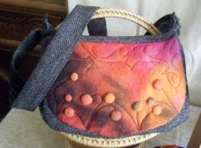 Organic Hebridean Tweed and merino felt shoulder bag