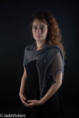 Silk Shawl with Welsh Slate