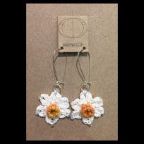 Crochet Daffodil Earrings £20