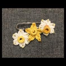 Crochet Daffodil Brooch £15